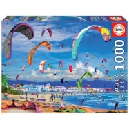 Puzzle 1000 dílků - Kitesurfing