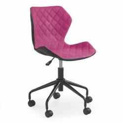 Halmar Dětská otočná židle MATRIX černo-růžová