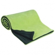 Deka  70x100 cm fleece antracit + limetka