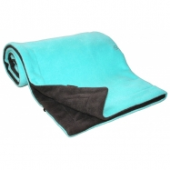 Deka  70x100 cm fleece antracit + aqua