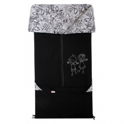 Fusak 2v1 BARY bavlna čierna + grafity