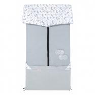 Fusak 2v1 BARY sivý + 3D kocka sivá