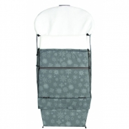 Emitex śpiworek do wózka/fusak Combi Płatek Śniegu, szary/biały