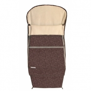 Emitex Śpiworek do wózka COMBI EXTRA, brązowy/beżowy