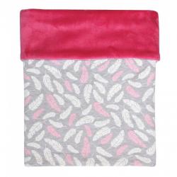 Deka MIMI peříčka růžová + velvet fuchsie