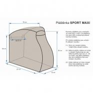 Pláštenka SPORT MAXI - čierna
