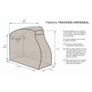 Pláštenka na kočík TRACKING UNIVERSAL- čierna