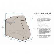 Osłona przeciwdeszczowa na wózek trójkołowy