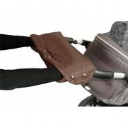 Rukávník ke kočárku hnědý