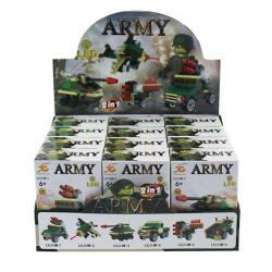 Army stavebnica s LED svetlom
