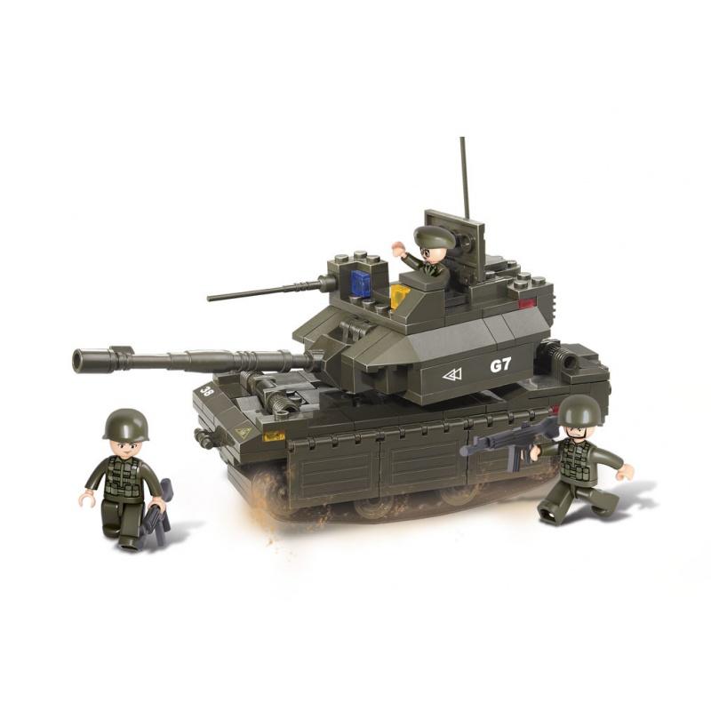 Stavebnice Vojáci - tank M1A2 Abrams, 219 dílků
