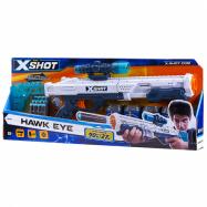 X-SHOT - Hawk Eye pistole + 5 plechovek a 12 nábojů