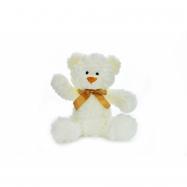 Mazlíci plyšové zvířátko Medvídek bílý s mašlí 30 cm