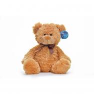 Mazlíci plyšové zvířátko Medvídek hnědý s mašlí 30 cm