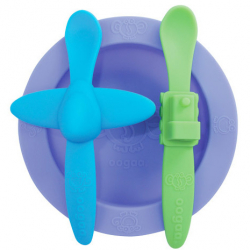 Komplet zastawy stołowej Oogaa w kolorze fioletowo-niebieskim