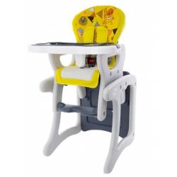 Jídelní stoleček 2v1 - ZOO žluté