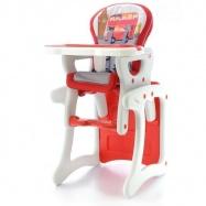 Jídelní stoleček 2v1 - červený autobus, K19