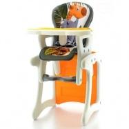 Jídelní židlička - stoleček 2 v 1 - Žirafa oranžová