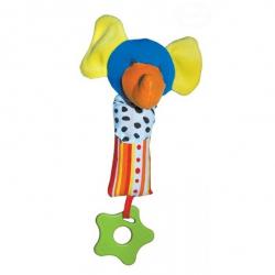 Edukační hračka - chrastítko - SLON
