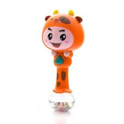 Edukační hračka - chrastítko s melodií - ZODIAK - oranžový