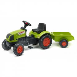 Traktor Claas Arion 410 s valníkem zelený