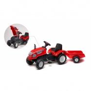 Traktor Farm Master s prívesom červený