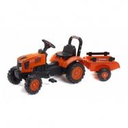 Traktor Kubota M7171 s prívesom oranžový
