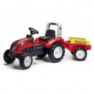 Traktor šlapací Ranch s valníkem červený