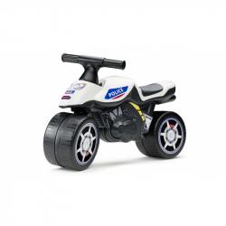 Odstrkovadlo - motorka policejní modro/bílá