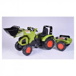 Traktor šliapací Claas Axos 330 zelený s prednou lyžicou a Valnom