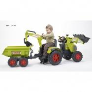 Traktor Claas Axos šlapací - s přední i zadní lžící + valník