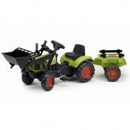 Traktor Claas Arion 410 s přední lžící + vlek