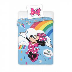 Detské obliečky Minnie s dúhou 140x200 cm