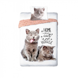 Detské obliečky mačičky 140x200 cm