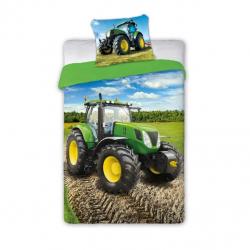 Detské obliečky traktor zelený 140x200 cm