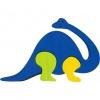 Dřevěné vkládací puzzle z masivu - Malý brontosaurus