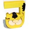 Dřevěné vkládací puzzle z masivu - Abeceda písmenko J jaguár