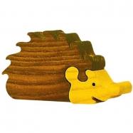 Drevené vkladacie puzzle z masívu - Veľký ježko