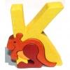 Drevené vkladacie puzzle z masívu - Abeceda písmenko K klokan