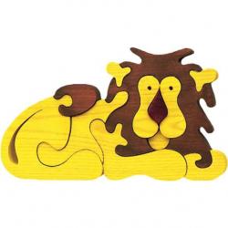 Dřevěné vkládací puzzle z masivu - Velký Lev