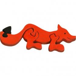 Dřevěné vkládací puzzle z masivu- vkládačka - Malá liška