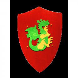Fauna Drevený štít s drakom