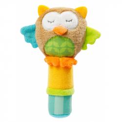 Zabawka do rączki z piszczałką Sowa 17 cm