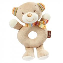 BABY FEHN Rainbow měkký kroužek medvídek