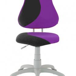 Rosnące krzesełko Alba Fuxo S Line Suedine fioletowo-czarne 706