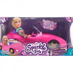 Módna sparkle Girlz bábika s pretekárskym autom