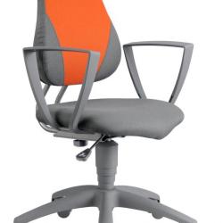 Rostoucí židle Fuxo Phoenix šedo-oranžová 81/113