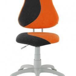 Rosnące krzesełko Alba Fuxo S Line Suedine pomarańczowo-czarne 253