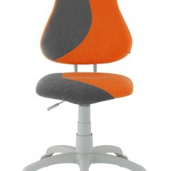 Rosnące krzesełko Alba Fuxo S Line Suedine pomarańczowo-szare 280