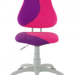 Rosnące krzesełko Alba Fuxo S Line Suedine różowo-fioletowe 268